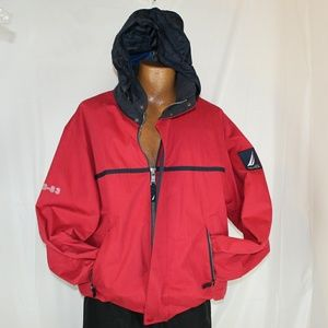 Nautica Sailing Vintage Red Utility Jacket Mens L